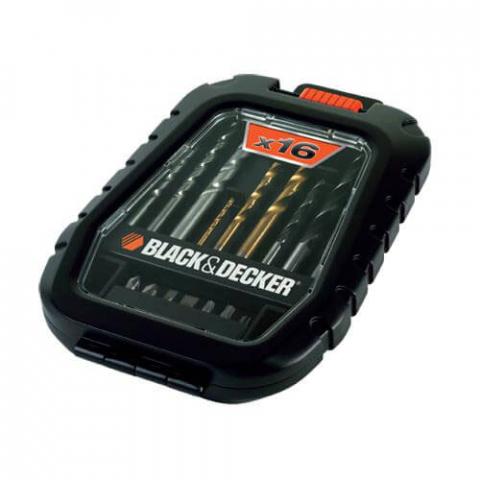 Купить аксессуары Black Decker Набор из 16 предметов BLACK&DECKER A7186 фирменный магазин Украина. Официальный сайт по продаже инструмента Black Decker