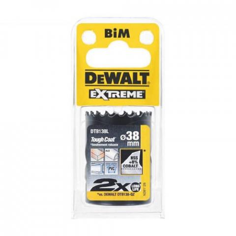 Купить аксессуары Цифенбор биметаллический диаметр 38 мм DeWALT DT8138L фирменный магазин Украина. Официальный сайт по продаже инструмента DeWALT