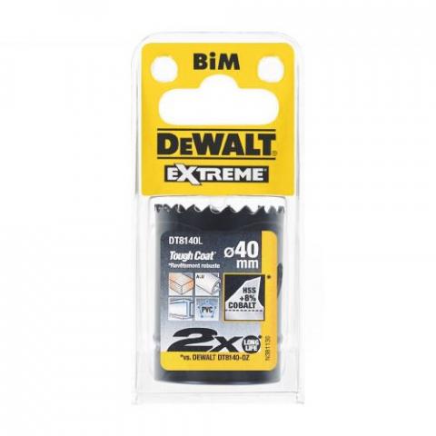 Купить аксессуары Цифенбор биметаллический диаметр 40 мм DeWALT DT8140L фирменный магазин Украина. Официальный сайт по продаже инструмента DeWALT