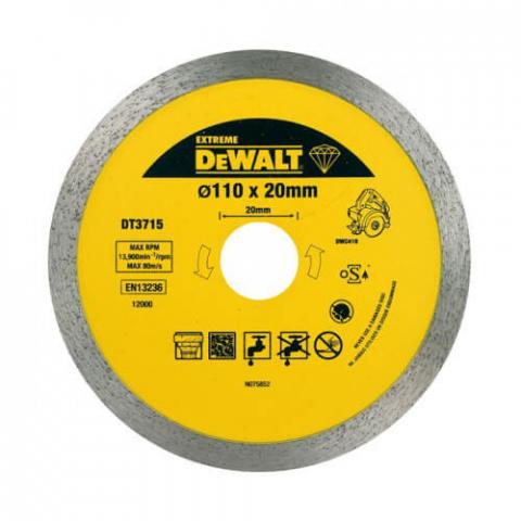 Купить аксессуары Диск алмазный для плиткореза DWC410 DeWALT DT3715 фирменный магазин Украина. Официальный сайт по продаже инструмента DeWALT