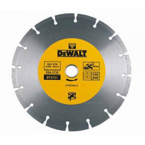 Купить аксессуары Диск алмазный сегментированный по бетону DeWALT DT3711 фирменный магазин Украина. Официальный сайт по продаже инструмента DeWALT