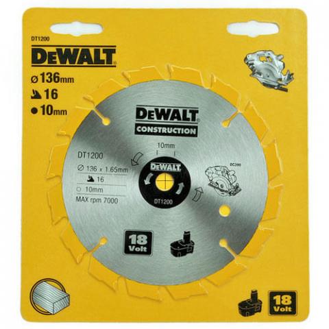 Купить аксессуары Диск пильный HM DeWALT DT1200 фирменный магазин Украина. Официальный сайт по продаже инструмента DeWALT