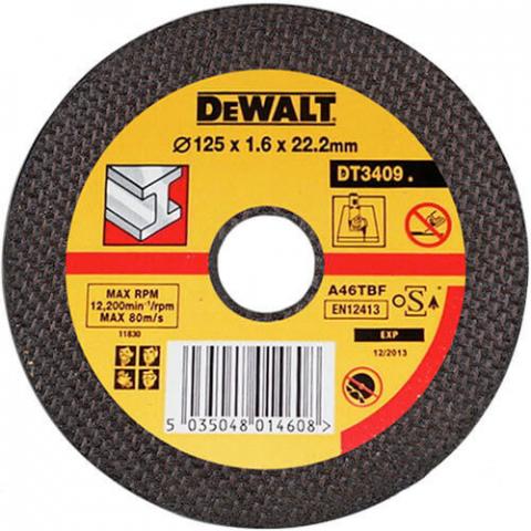 Купить аксессуары Круг отрезной по металлу диаметр 125 мм DeWALT DT3409-QZ фирменный магазин Украина. Официальный сайт по продаже инструмента DeWALT