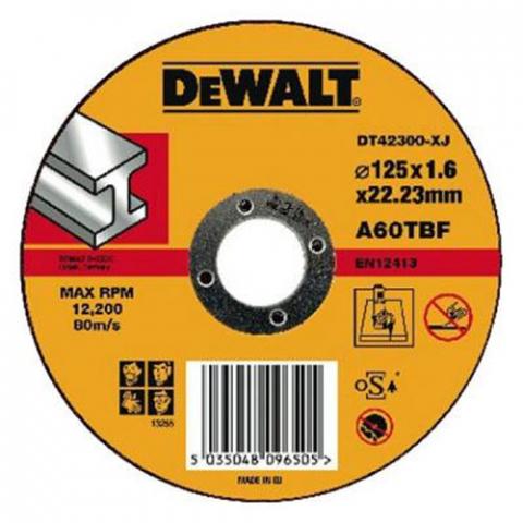 Купить аксессуары Круг отрезной по металлу диаметр 125 мм DeWALT DT42300 фирменный магазин Украина. Официальный сайт по продаже инструмента DeWALT