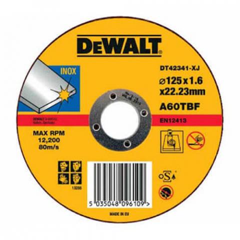 Купить аксессуары Круг отрезной по металлу диаметр 125 мм DeWALT DT42341 фирменный магазин Украина. Официальный сайт по продаже инструмента DeWALT