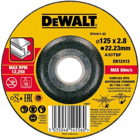 Купить аксессуары Круг отрезной по металлу диаметр 125 мм DeWALT DT43911 фирменный магазин Украина. Официальный сайт по продаже инструмента DeWALT