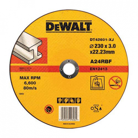 Купить аксессуары Круг отрезной по металлу диаметр 230 мм DeWALT DT42601 фирменный магазин Украина. Официальный сайт по продаже инструмента DeWALT