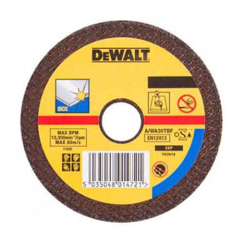 Купить аксессуары Круг отрезной по металлу INOX диаметр 125 мм DeWALT DT43341 фирменный магазин Украина. Официальный сайт по продаже инструмента DeWALT