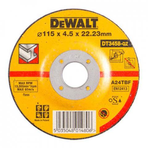 Купить аксессуары Круг шлифовальный по металлу диаметр 115 мм DeWALT DT3458-QZ фирменный магазин Украина. Официальный сайт по продаже инструмента DeWALT
