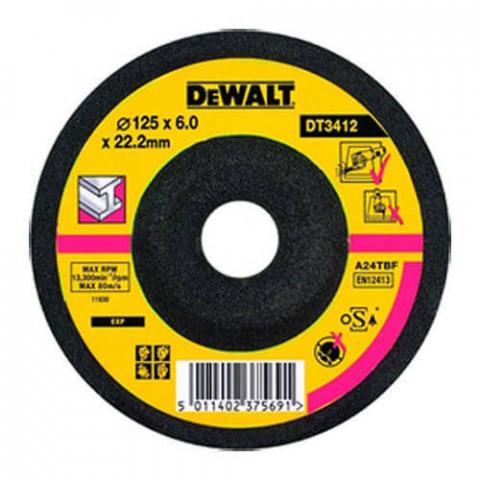 Купить аксессуары Круг шлифовальный по металлу диаметр 125 мм DeWALT DT3412-QZ фирменный магазин Украина. Официальный сайт по продаже инструмента DeWALT