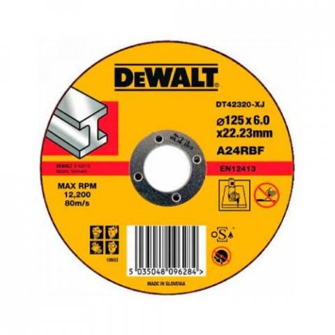 Купить аксессуары Круг шлифовальный по металлу диаметр 125 мм DeWALT DT42320 фирменный магазин Украина. Официальный сайт по продаже инструмента DeWALT