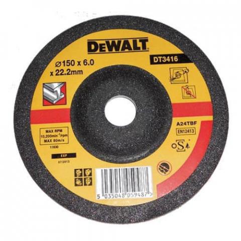 Купить аксессуары Круг шлифовальный по металлу диаметр 150 мм DeWALT DT3416-QZ фирменный магазин Украина. Официальный сайт по продаже инструмента DeWALT