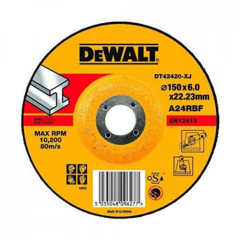 Купить аксессуары Круг шлифовальный по металлу диаметр 150 мм DeWALT DT42420 фирменный магазин Украина. Официальный сайт по продаже инструмента DeWALT