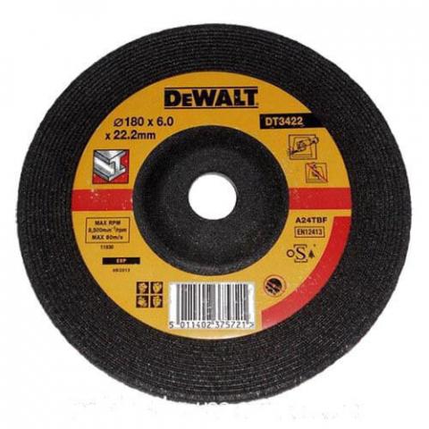 Купить аксессуары Круг шлифовальный по металлу диаметр 180 мм DeWALT DT3422-QZ фирменный магазин Украина. Официальный сайт по продаже инструмента DeWALT