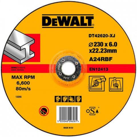 Купить аксессуары Круг шлифовальный по металлу диаметр 230 мм DeWALT DT42620 фирменный магазин Украина. Официальный сайт по продаже инструмента DeWALT