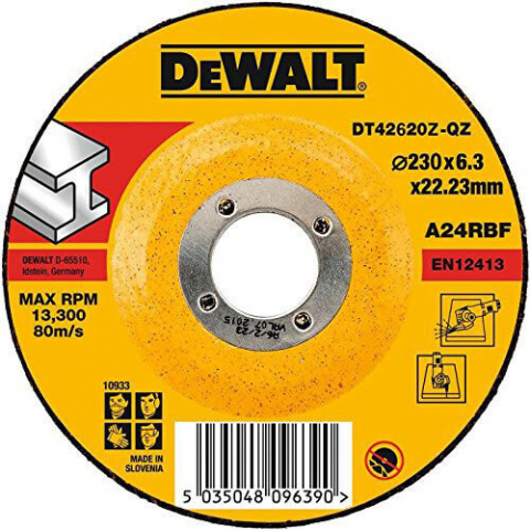 Купить аксессуары Круг шлифовальный по металлу диаметр 230 мм DeWALT DT42620Z фирменный магазин Украина. Официальный сайт по продаже инструмента DeWALT