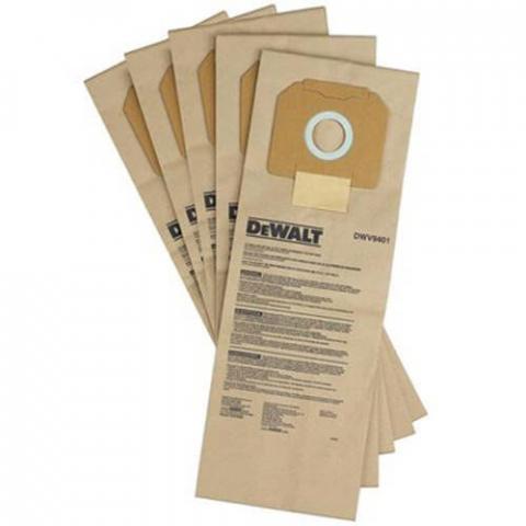 Купить аксессуары Мешки одноразовые бумажные для пылесоса DWV902L DeWALT DWV9401 фирменный магазин Украина. Официальный сайт по продаже инструмента DeWALT
