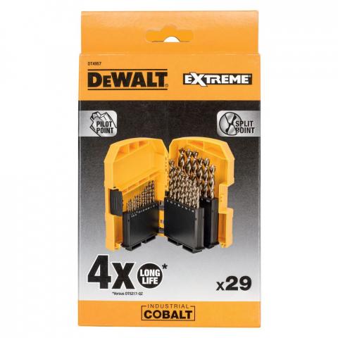 Купить аксессуары Набор сверл по металлу INDUSTRIAL COBALT EXTREME 29 штук DeWALT DT4957 фирменный магазин Украина. Официальный сайт по продаже инструмента DeWALT
