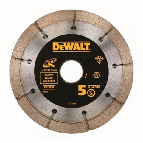 Купить аксессуары Сдвоенный сегментированный алмазный диск DeWALT DT3758 фирменный магазин Украина. Официальный сайт по продаже инструмента DeWALT