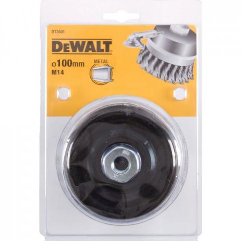 Купить аксессуары Щетка металлическая диаметр 100 мм DeWALT DT3501 фирменный магазин Украина. Официальный сайт по продаже инструмента DeWALT