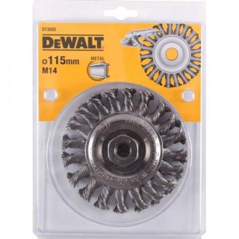 Купить аксессуары Щетка металлическая диаметр 115 мм DeWALT DT3502 фирменный магазин Украина. Официальный сайт по продаже инструмента DeWALT