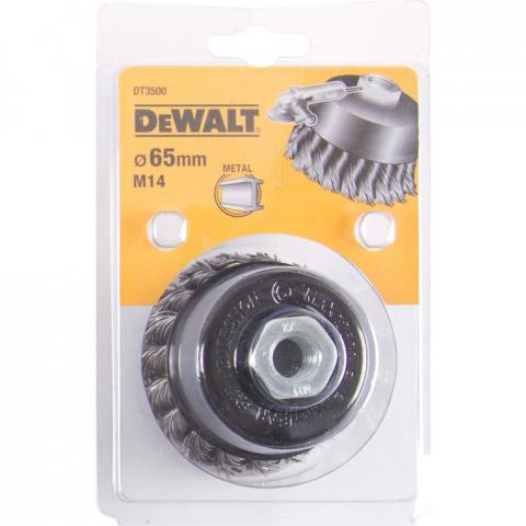 Купить аксессуары Щетка металлическая диаметр 65 мм DeWALT DT3500 фирменный магазин Украина. Официальный сайт по продаже инструмента DeWALT