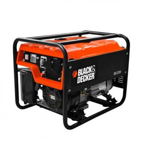 Купить инструмент Black Decker Бензиновый генератор однофазный BLACK DECKER BD2200 фирменный магазин Украина. Официальный сайт по продаже инструмента Black Decker
