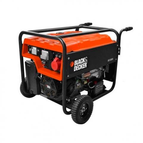 Купить инструмент Black Decker Бензиновый генератор трехфазный с электростартером BLACK+DECKER BD5500 фирменный магазин Украина. Официальный сайт по продаже инструмента Black Decker