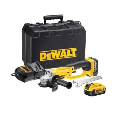 Купить Шлифмашина угловая - болгарка аккумуляторная DeWALT DCG412M2. Инструмент DeWALT Украина, официальный фирменный магазин