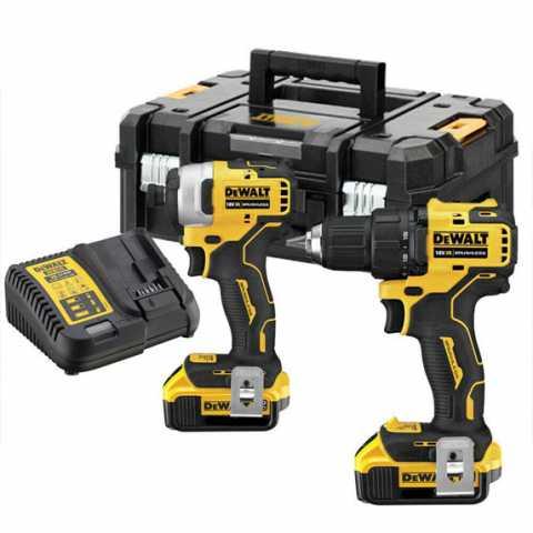 Купить Набор из двух инструментов аккумуляторных бесщеточных DeWALT DCK2062M2T. Инструмент DeWALT Украина, официальный фирменный магазин