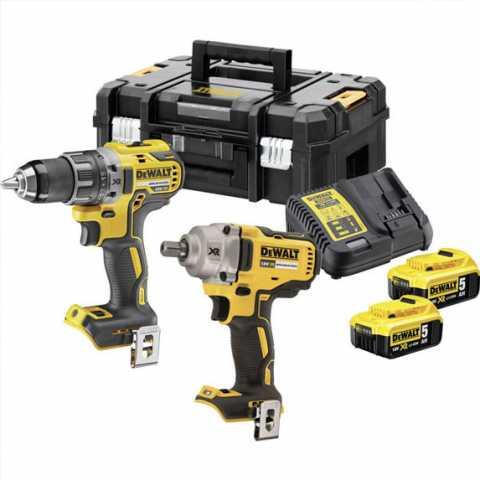 Купить Набор из двух инструментов аккумуляторных бесщеточных DeWALT DCK2077P2T. Фирменный магазин BLACK DECKER Украина