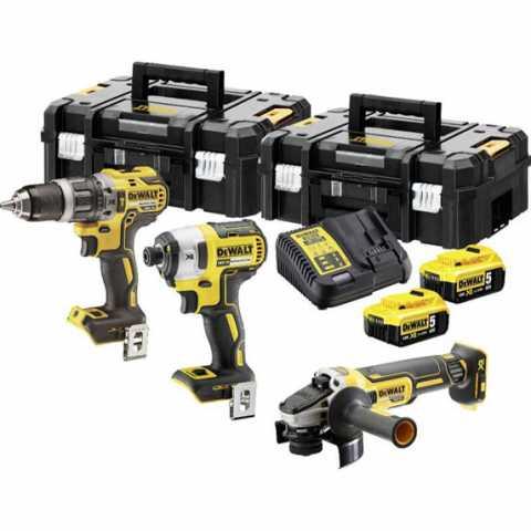 Купить Набор из трех инструментов аккумуляторных бесщеточных DeWALT DCK384P2T. Фирменный магазин BLACK DECKER Украина