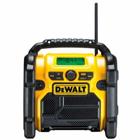 Купить инструмент DeWALT Радиоприемник AM/FM, AUX порт, DeWALT DCR019 фирменный магазин Украина. Официальный сайт по продаже инструмента DeWALT