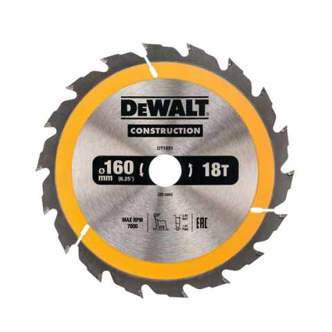 Купить Диск пильный DeWALT DT1931. Инструмент DeWALT Украина, официальный фирменный магазин