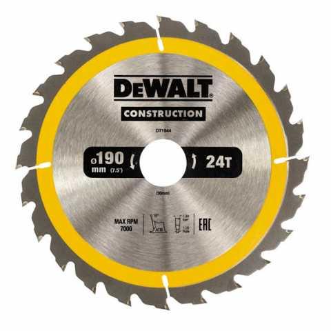Купить Диск пильный DeWALT DT1944. Инструмент DeWALT Украина, официальный фирменный магазин