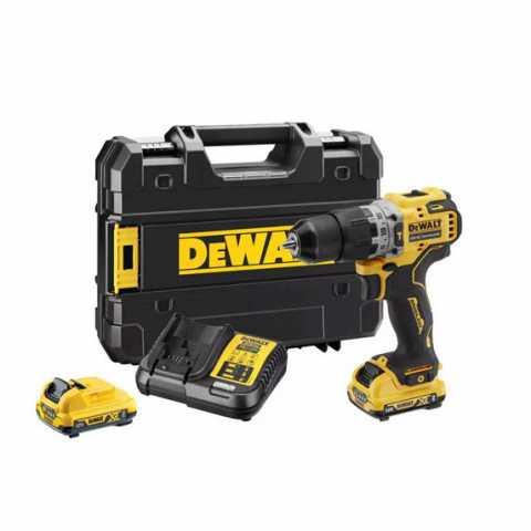 Купить Дрель-шуруповёрт аккумуляторная бесщеточная ударная DeWALT DCD706D2. Инструмент DeWALT Украина, официальный фирменный магазин