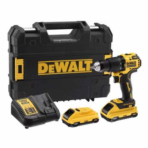 Купить Дрель-шуруповёрт аккумуляторная бесщёточная ударная DeWALT DCD709L2T. Инструмент DeWALT Украина, официальный фирменный магазин
