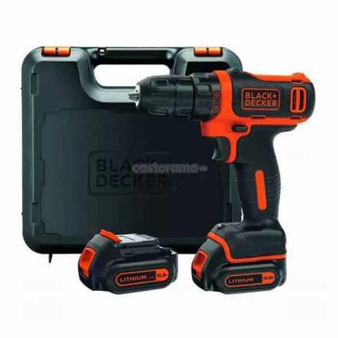 Купить Дрель-шуруповёрт аккумуляторная BLACK+DECKER BDCDD12KB. Инструмент Black Deker Украина, официальный фирменный магазин