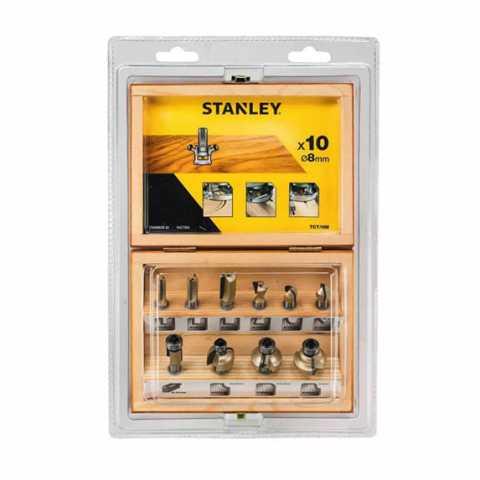 Купить Набор фрез по дереву TCT 8мм STANLEY STA80020. Инструмент DeWALT Украина, официальный фирменный магазин