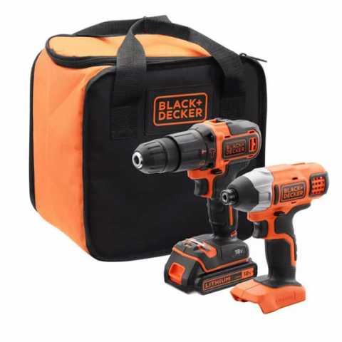 Купить Набор из двух инструментов BLACK+DECKER BCK21S1S. Инструмент Black Deker Украина, официальный фирменный магазин
