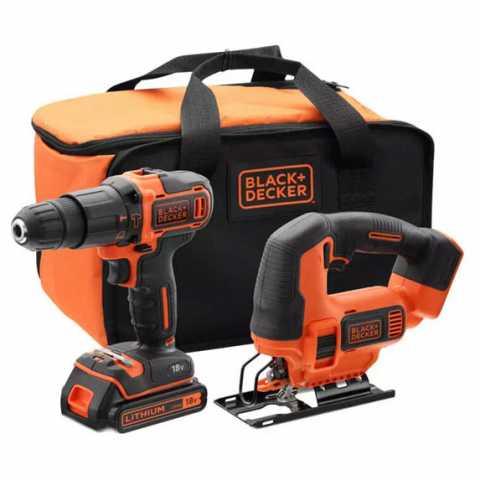 Купить Набор из двух инструментов BLACK+DECKER BCK22S1S. Инструмент Black Deker Украина, официальный фирменный магазин