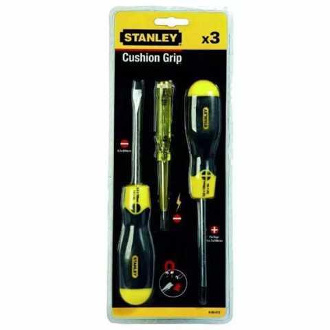 Купить Набор из двух отверток CushionGrip и тестера напряжения STANLEY 0-65-012. Инструмент DeWALT Украина, официальный фирменный магазин