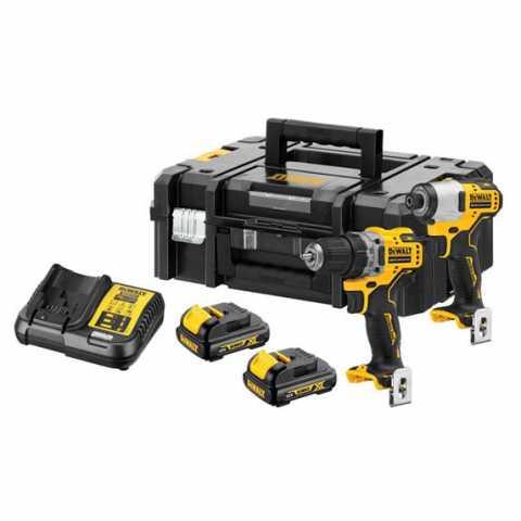 Купить Набор из двух инструментов аккумуляторных бесщеточных DeWALT DCK2110C2T. Фирменный магазин DeWalt Украина