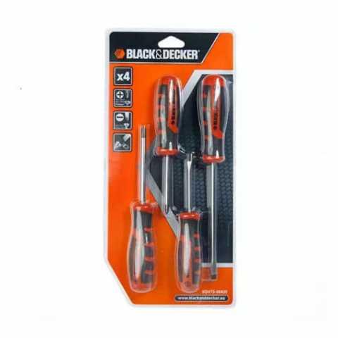 Купить Набор отверток 4 шт BLACK+DECKER BDHT0-66429. Инструмент Black Deker Украина, официальный фирменный магазин