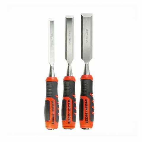 Купить Набор ударных стамесок 3 шт BLACK+DECKER BDHT0-16147. Инструмент Black Deker Украина, официальный фирменный магазин