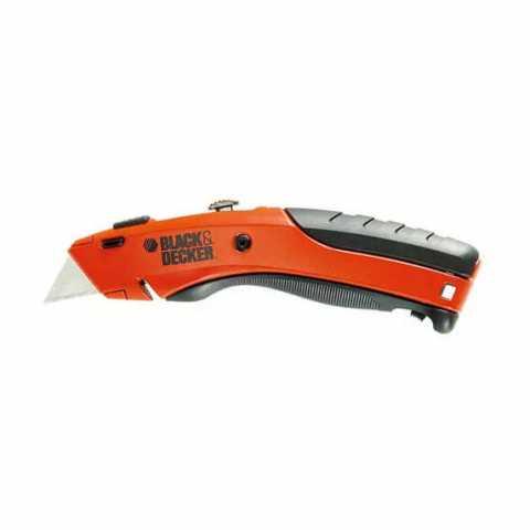 Купить Нож выдвижной с фиксированным быстросменным трапецевидным лезвием BLACK+DECKER BDHT0-10197. Инструмент Black Deker Украина, официальный фирменный магазин