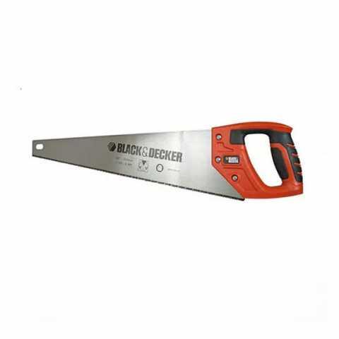 Купить Ножовка по дереву длиной 500 мм BLACK+DECKER BDHT0-20173. Инструмент Black Deker Украина, официальный фирменный магазин
