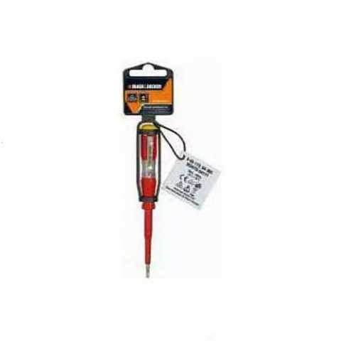 Купить Отвертка тестер с изолирований пластмасовой рукояткой BLACK+DECKER BDHT0-64177. Инструмент Black Deker Украина, официальный фирменный магазин