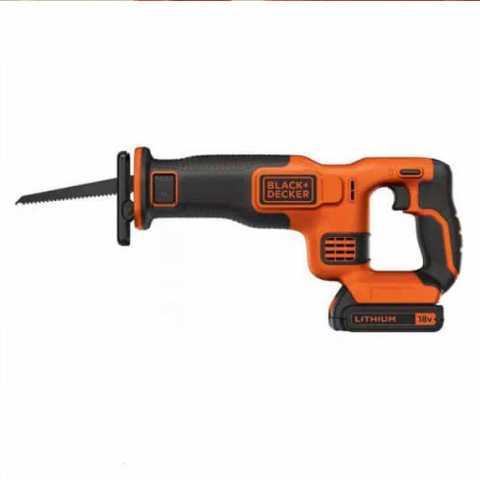 Купить Пила сабельная аккумуляторная BLACK+DECKER BDCR18. Инструмент Black Deker Украина, официальный фирменный магазин
