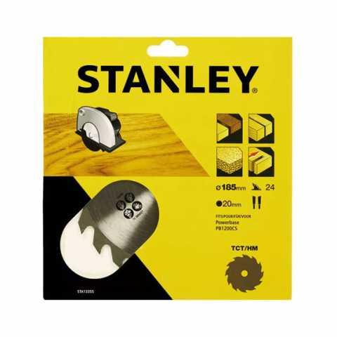 Купить Пильный диск TCT/HM, 24 z, d=185 х 20 мм, быстрый чистый рез, STANLEY STA13355. DeWALT Украина, официальный фирменный магазин
